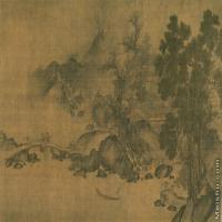 【印刷级】GH7280031古画山水风景深山远林图镜片图片-61M-6395X3352