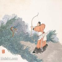 【印刷级】GH6061581古画任薰-生肖人物图册(4)-动物-巳蛇册页图片-60M-5652X4209_57063106