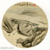 【印刷级】GH6081385古画山水风景-清代名家-小品图片-17M-2480X2458