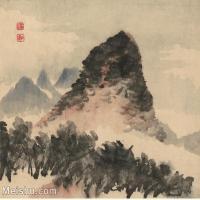 【印刷级】GH6060118古画石涛设色山水风景册页图片-51M-3928X3380_56934499