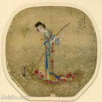 【印刷级】GH6080674古画人物-清代麻姑项焜-侍女-小品图片-16M-2480X2259
