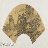 【打印级】GH6070286古画山水风景扇面图片-39M-5300X2614