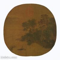 【印刷级】GH6156237古画溪阴浴牧山水小品图片-37M-3701X3565
