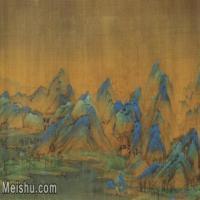 【超顶级】GH7280157古画山水风景王孟希千里江山图镜片图片-340M-7114X11820_1874414
