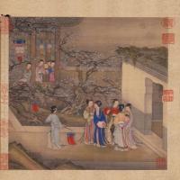 陈枚月曼清游图册-清朝-人物
