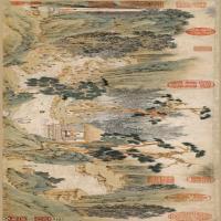【超顶级】GH7280122古画山水风景明祝允明兰亭序纸本镜片图片-218M-14508X3913_28605045
