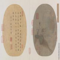 【印刷级】GH6080662古画人物仙女乘鸾图-宋-佚名国画工笔画-66.5x30-178x80-仙子-凤凰-小品图片-148M-10752X4838