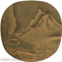 【印刷级】GH6081354古画山水风景-宋代山水小品树林木河流小船只-小品图片-47M-3552X3510_2066014