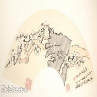 【欣赏级】GH6070379古画山水风景扇面图片-5M-2000X1029