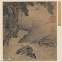 【欣赏级】GH6080973古画山水风景宋-松涧山禽图页小品图片-12M-2197X2000