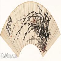 【欣赏级】GH6070234古画花卉植物树木扇面图片-7M-2665X1329