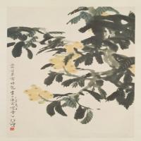 徐悲鸿枇杷佳果图轴-近现代-花鸟