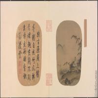 【印刷级】GH6080816古画树木植物竹涧焚香图页小品图片-127M-9320X4786