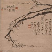 【印刷级】GH6040075古画立轴-清 汪士慎-空里疏香图轴图片树木植物-182M-4805X9948_56860118