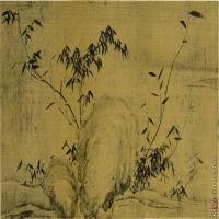 【印刷级】GH7280528古画植物苏东坡苏轼 墨竹卷镜片图片-116M-9263X4409