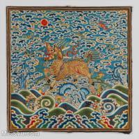 【印刷級】GH6063362古畫古代官服刺繡圖案麒麟神獸冊頁圖片-42M-3883X3842_13764030