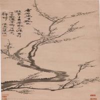 【印刷级】GH6040072古画立轴-清 汪士慎-墨梅图轴图片树木植物-205M-3713X14506_56854548