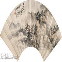 【打印级】GH6070408古画山水风景徐行敏山水扇面图片-31M-4874X2238
