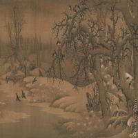【印刷级】GH7280072古画山水风景佚名寒鸦图镜片图片-107M-7519X3714_19117719