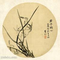 【印刷级】GH6080435古画花卉鲜花鸟-清代名家君子同心-小品图片-16M-2480X2386-16M-2480X2386