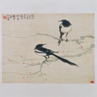 徐悲鸿双鹊图轴-近现代-花鸟