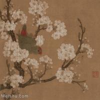【印刷级】GH6080254古画花卉鲜花鸟佚名-梨花鹦鹉图-小品图片-54M-3993X3995_18531389