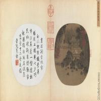【印刷级】GH6080974古画山水风景宋-燕文贵-纳凉观瀑图页小品图片-140M-9472X5181
