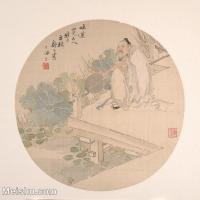 【印刷级】GH6080688古画人物清代舒浩字萍桥-荷塘月色小品图片-37M-3707X3552