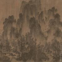 【印刷级】GH6105033古画镜片李成-茂林远岫图图片-107M-7303X4033_1366849