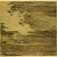 【打印级】GH7271041古画清-华岩-秋林观泉图-绢本长卷图片-126M-13659X2906