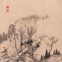【印刷级】GH6062471古画石涛-设色山水(12)册页图片-43M-3927X3334