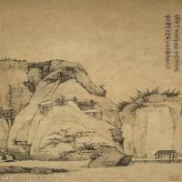 【欣赏级】GH6088697古画山水风景清-弘仁-林泉春暮图轴-89.4×41.8立轴图片-25M-1916X4122_56824955