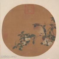 【印刷级】GH6080475古画花卉鲜花鸟古代-海棠花小品图片-35M-3508X3581
