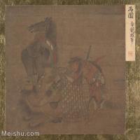 【印刷级】GH6080687古画人物明代李龙眠马图-战马骆驼小品图片-38M-3859X3518