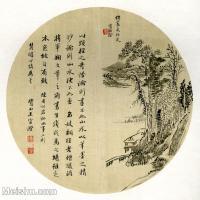 【印刷级】GH6081370古画山水风景-清代鹭田王官风景书画-小品图片-17M-2480X2427