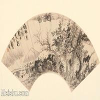 【印刷级】GH6070550古画山水风景明清14副扇面图片-82M-7100X4000_29025702