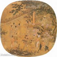 【印刷级】GH6151018古画册页人物元·刘贯道《人物故事图册 李白醉归图》(私人藏)图片-20M-2591X2800_7656513