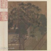 【印刷级】GH6080002古画人文建筑宫廷楼阁刘松年 山馆读书小品图片-50M-4737X3722