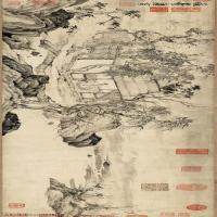 【超顶级】GH7280112古画山水风景悟阳子-画芯宣镜片图片-155M-14728X4181