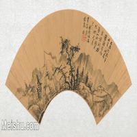 【欣赏级】GH6070390古画山水风景Hsiang Sheng-mo扇面图片-14M-3200X1574
