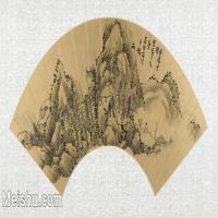 【打印级】GH6070295古画山水风景扇面图片-39M-5300X2600