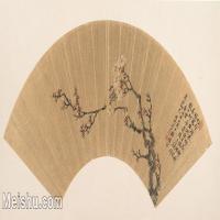 【欣赏级】GH6070213古画花卉植物树木扇面图片-5M-2000X987