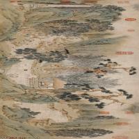 【超顶级】GH7280164古画山水风景祝允明兰亭序纸镜片图片-280M-18587X4823_28607198