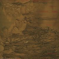 【超顶级】GH7280100古画山水风景寒鸦图绢镜片图片-234M-15557X3709_19110372