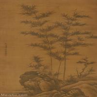 【超顶级】GH6085321古画树木植物-竹石图-元-李士行-绢本-30x55-110x201-墨竹子立轴图片-1179M-12797X23395_7522430
