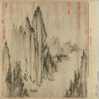 【超顶级】GH7280130古画山水风景武直元赤壁图镜片图片-331M-18680X6194