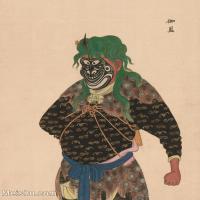 【印刷级】GH6061475古画脸谱(6)-人物-伽蓝册页图片-38M-3293X4119