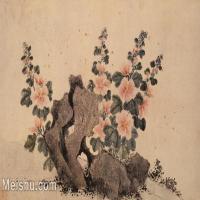 【印刷级】GH6080451古画花卉鲜花鸟古代花卉植物岩石小品图片-69M-5705X3213