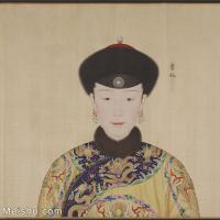 【印刷级】GH6151055古画册页人物清郎世宁高宗帝后像-贵妃图片-8M-1715X1785