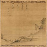 【打印級】GH6088588古畫山水風景宋末元初-佚名-山間月色圖軸-克利夫蘭美術館藏立軸圖片-45M-3166X5000_1943226